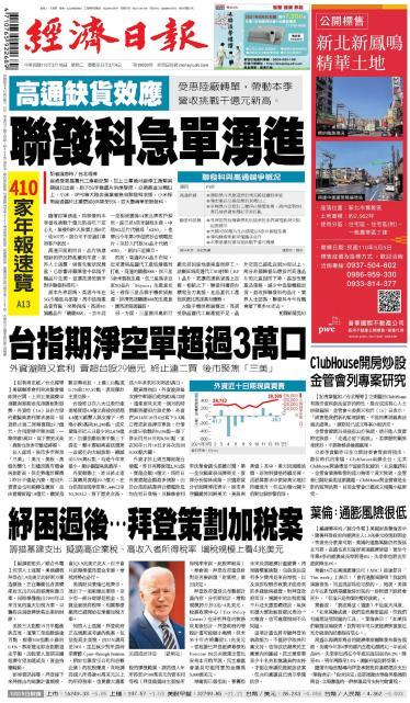 經濟日報 20210316