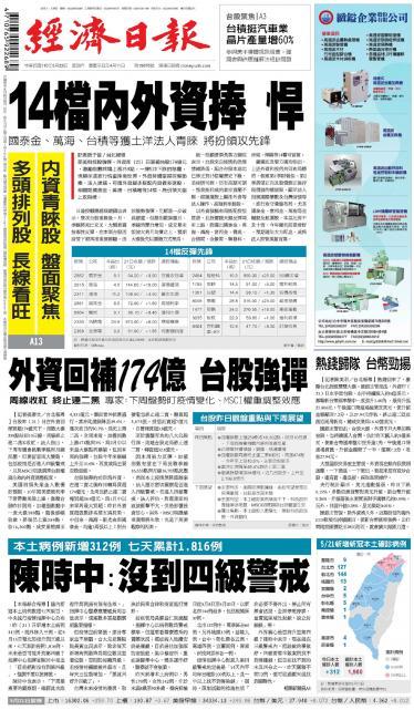 經濟日報 20210522